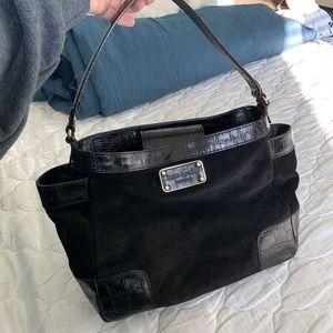 Kate Spade Black Suede Bucket / Hobo Bag
